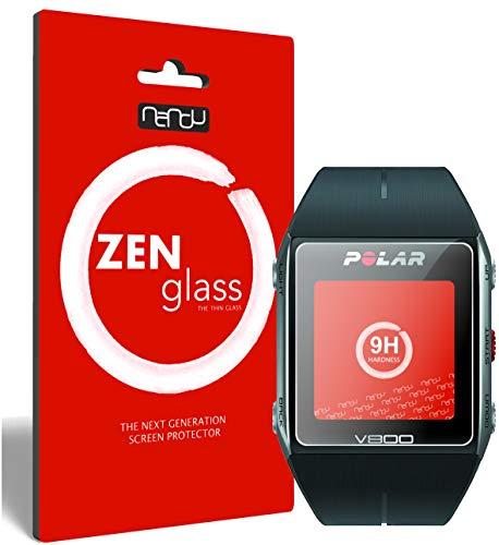ZenGlass (2 Stück Flexible Glas-Folie kompatibel mit Polar Trainingscomputer V800 Panzerfolie I Bildschirm-Schutzfolie 9H I (Kleiner Als Das Gewölbte Bildschirm)