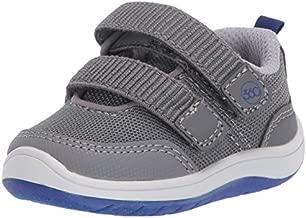 Stride Rite 360 Boy's Dash Anti-Microbial Dual Width Insole Athletic Shoe, Grey, 3.5 M US Big Kid
