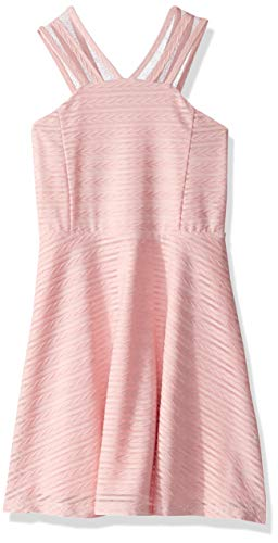 The Children's Place Girls' Big Sleeveless Dressy Dresses, Light Plum, XXL(16)