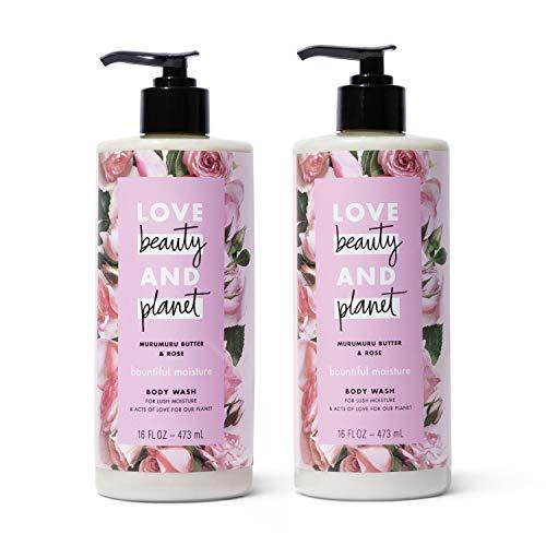 Love Beauty And Planet Bountiful Moisture Body Wash Silicone Free, Paraben Free, Vegan Murumuru Butter & Rose Moisturizing Body Wash 16 oz 2 Count