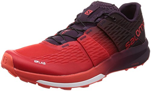 Salomon Mens S/Lab Sense Ultra 2 Trail Running Shoes, Racing Red/Maverick/White, 42 M EU/9 D(M) US