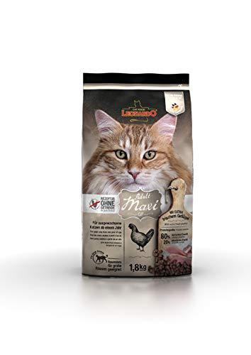 Leonardo Adult GF Maxi [1,8kg] Katzenfutter | Getreidefreies Trockenfutter für Katzen | Alleinfuttermittel für große Katzenrassen ab 1 Jahr