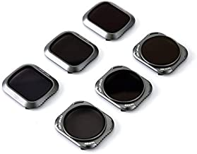Lens Filters for DJI Mavic 2 Pro Camera Lens Set, Multi Coated Filters Pack Accessories (6 Pack) ND4, ND8, ND16, ND4/CPL, ND8/CPL, ND16/CPL, Upgraded: Works with Gimbal Cover