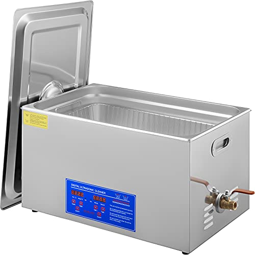 VEVOR 30L Industrial Ultrasonic Cleaner with Digital Timer&Heater 40kHz Professional Large Ultrasonic Cleaner Total 1200W for Wrench Tools Industrial Parts Mental Instrument Apparatus Cleaning