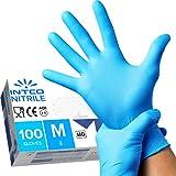 intco medical 100 guanti in Nitrile M senza polvere, senza lattice,...