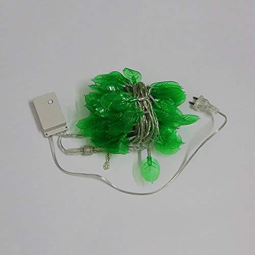 Bordi LED Chaîne extérieure nette rouge feuille verte Willow décoratif Lampe suspendue Chambre exquis Idées pratiques Nuit Famille Lumière LED Décoration de vacances d'économie d'énergie lampe