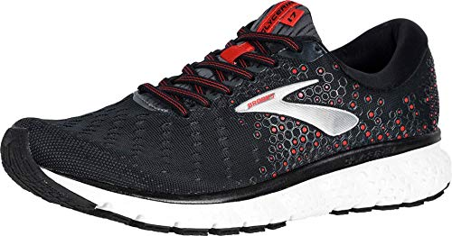 Brooks Herren Glycerin 17 Laufschuhe, Black Ebony Red, 46 EU