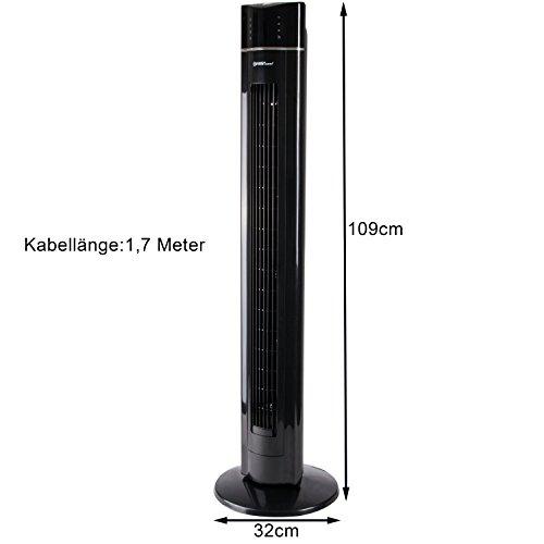 Säulenventilator mit Fernbedienung TZS First Austria Bild 4*