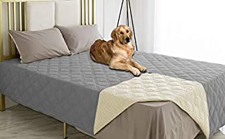 Ameritex Waterproof Dog Bed Cover Pet Blanket with Anti-Slip Back for Furniture Bed Couch Sofa (82x102 Inches, Light Grey)