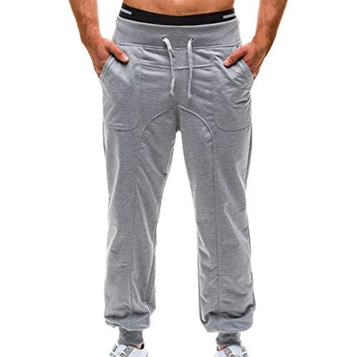 Homme Pantalons Jogging Long Pants Loose Survêtement Sweat Pants Sport Homme en Jean Usé avec Poche Classique Décontractée Gym Fitness Jogging Sweatpants