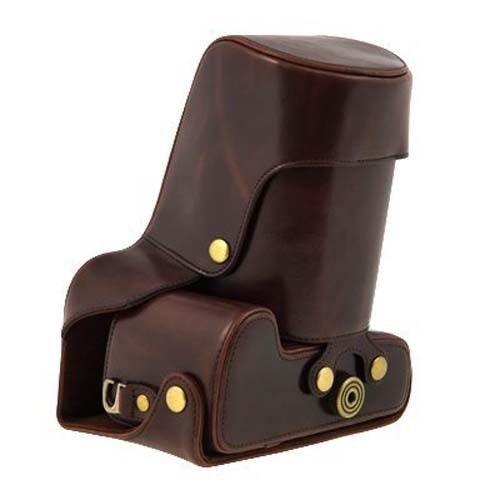 PU Leder Kameratasch Kamera-Taschen SLR-Taschen for Canon EOS-100D Kaffee dark braun