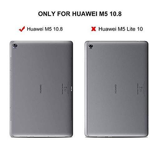 ZtotopCase Huawei M5 10.8 Hülle,Ultradünne Smart Cover Schutzhülle mit Stifthalter, Automatischem Schlaf/Aufwach, Kompatibel für Huawei MediaPad M5 /M5 Pro 10.8 Zoll 2018,Schwarz - 2