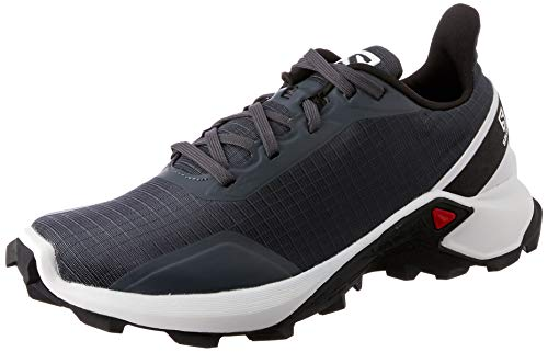 Salomon ALPHACROSS W, Zapatillas de trail running para Mujer, Gris India Ink White Black, 38 EU