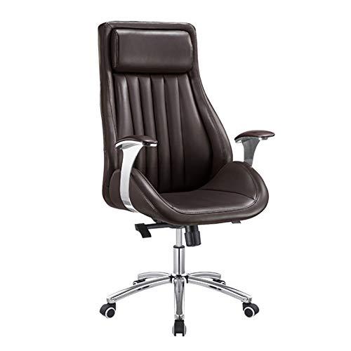 HMBB Sillas de Escritorio, Silla de oficina de las sillas de jefe Silla de escritorio de oficina ajustable con ruedas, silla de oficina ajustable ergonómica con soporte lumbar, silla de negocios de al