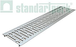 Standartpark Stainless Steel Grate 9.4 W x 39.4 L with lip to fit 8 inch internal trench drain