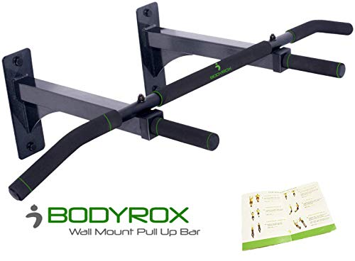 BODYROX Wall Mount Pull Up Bar | Heavy Duty Pull Up Bar with Four Grip Positions