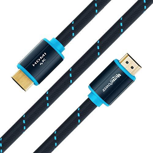 MutecPower 5 Pack 5m Cavo HDMI 2.0 - Alta velocità con Ethernet 4Kx2K/60HZ Ultra HD 2160p / Full HD 1080p - 3D/Arc/CEC - Cavo Triplo schermato - Nero 5 Metri