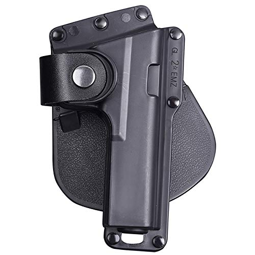 Gexgune Military CQB CQC Glock Rare Pistol Hunting Airsoft Cinturón Holster Accesorios Tactical Gun Holster Glock 17/22/23 w/Correa de Cuero