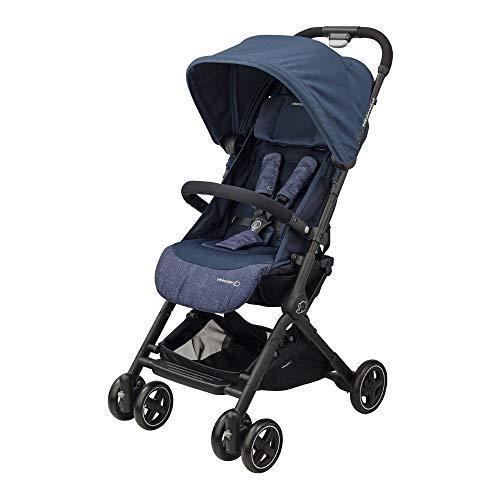 Bébé Confort Lara Passeggino Pieghevole Ultra Compatto, Unisex Bambini, dalla nascita fino a 3.5 anni/0-15 kg, Blu (Nomad Blue)
