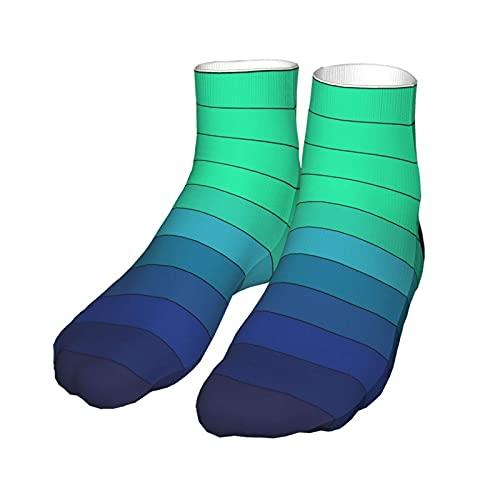 VJSDIUD Color verde a azul Cambio gradual que absorbe la humedad Calcetines deportivos Cojín de entrenamiento de trabajo Calcetines de equipo para hombres Mujeres Calcetines grueso