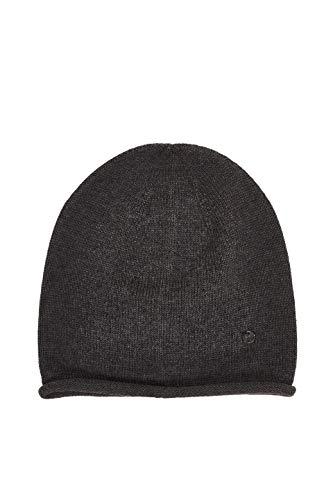 ESPRIT Damen 990EA1P301 Beanie-Mütze, 020/DARK Grey, Einheitsgröße