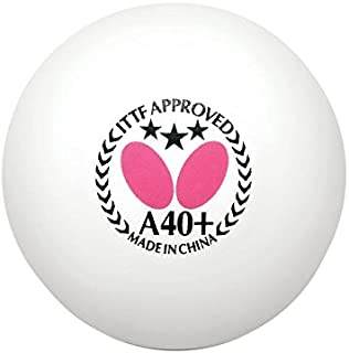 Butterfly A40+ 3 Star Table Tennis Balls - 40mm - White - ITTF Approved - Poly 3 Star Ping Pong Balls - Official 2018 World Table Tennis Championships Ball