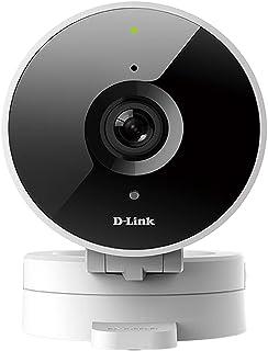 Câmera de Segurança Interna D-Link HD WiFi, Gravação Alta, Detecção de Movimento e Visão Noturna, Funciona com Alexa
