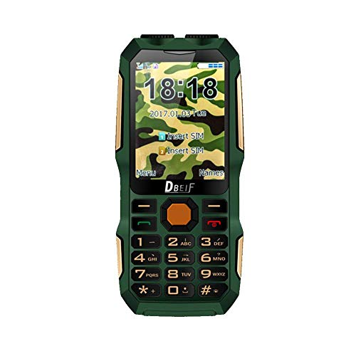 Domybest Handy Dual Flashlight FM Radio MP3 MP4 13800 mAh Power Bank TV Analoge Telefonie robuust (Groen)