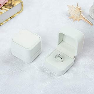 Jewelry 3 PCS Wedding Jewelry Accessories Squre Velvet Jewelry Box Jewelry Display Case Gift Boxes Ring Earrings Box(Jujub...