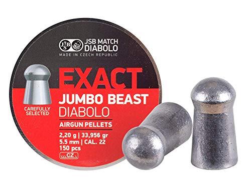 JSB 546387-150 Jumbo Exact Beast Air Gun Pellets .22 Cal, 33.95 Grains, 150ct