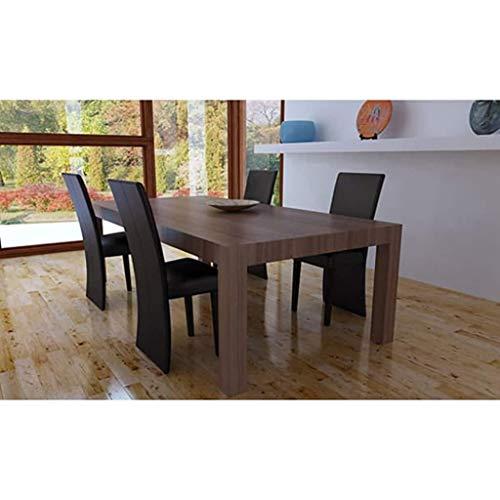 Zora Walter - Juego de 4 sillas de Comedor Juego de sillas de Comedor de Color marrón Oscuro con reposabrazos, para K ̈1Che,B ̈1ro,Lounge,Sala de conferencias