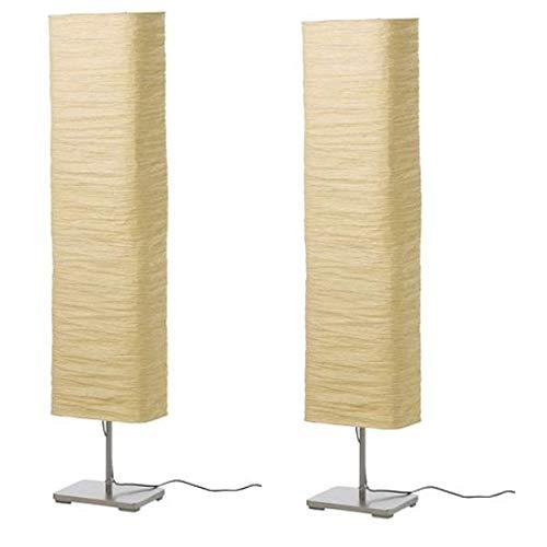 2 XIKEA Standleuchte MAGNARP, 154cm, Reispapier