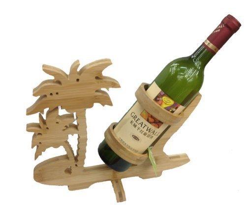 GMMH Design Palme Weinflaschenhalter Weinregal Weinständer Flaschenständer Flaschenhalter Bambus Weinhalter Holz