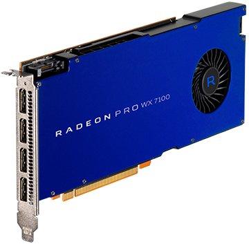 AMD 100-505826 - Tarjeta gráfica (AMD Radeon Pro WX 7100, Memoria GDDR5 de 8192 MB, 4 Puertos DP PCI)