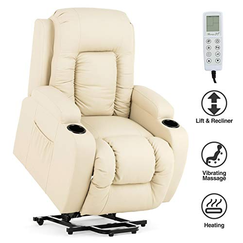 professional Mecor power lift chair, lift chair for the elderly, synthetic leather massage chair with heating / cup …