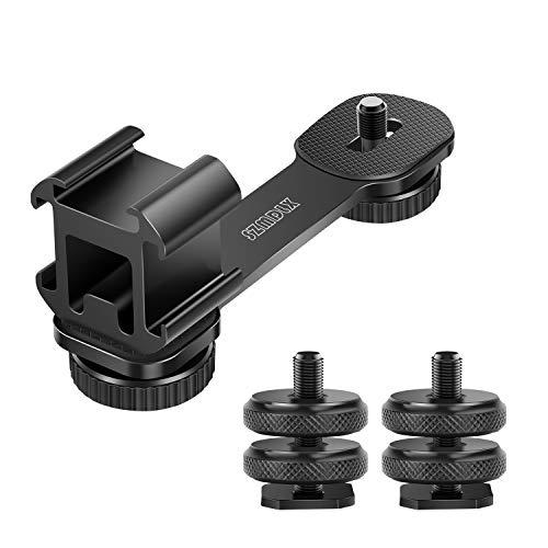 Dreifach Blitzschuh Adapter, 1/4' Schraube Adapter, 3 in 1 Adapter Triple Cold Schuhhalterung Platte für Mikrofon LED-Videolichthalter Ständer für...