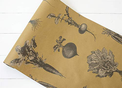"""Hester and Cook Kitchen Papers Farmers Market 20"""" x 25"""" Disposable Table Runner"""