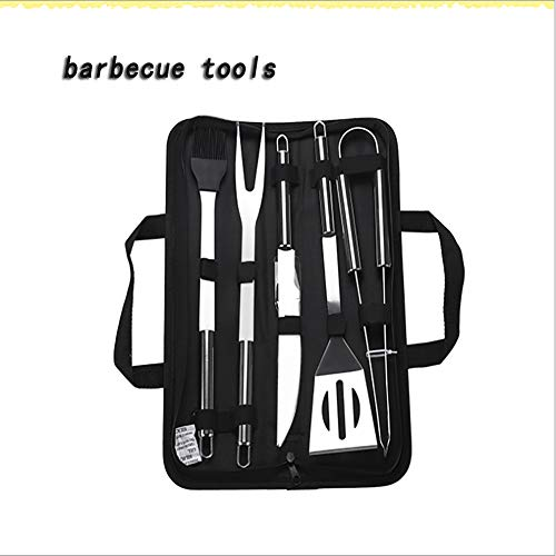 Utensilios Barbacoa, Barbacoa Parrilla Herramientas Acero Inoxidable Kit Barbacoa 5/7/9 pcs Kit,A