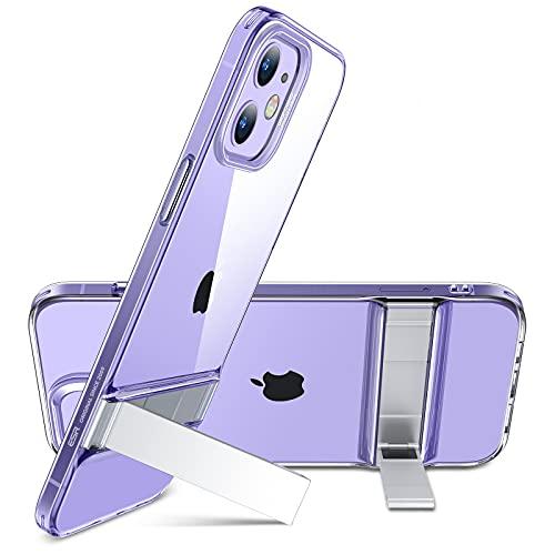 ESR Cover Compatibile con iPhone 6.1 Pollice 12 e 12 PRO, Custodia con cavalletto in Metallo, 2 Posizioni, Trasparente