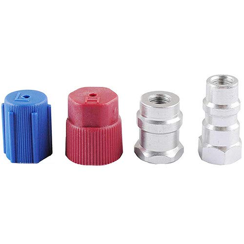wadoy R12 to R134a Conversion Kit, R12 to R134a Retrofit Kit for A/C Pro Refrigerant, R12 to R134a Adapter(1set