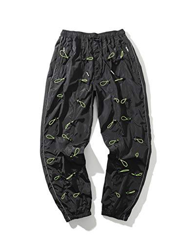 Función Hombres Industria Pesada con Cordón Deportes Pantalones Ocasionales De Los Pantalones De Carga del Basculador
