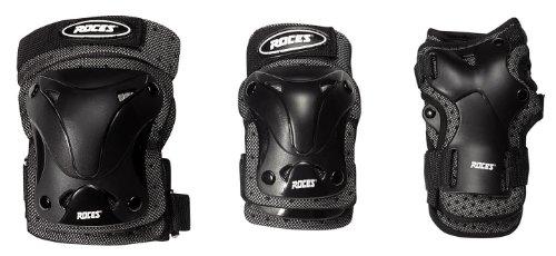 Roces Erwachsene 3 Pack Schützer Ventilated Schutzset, Black, S