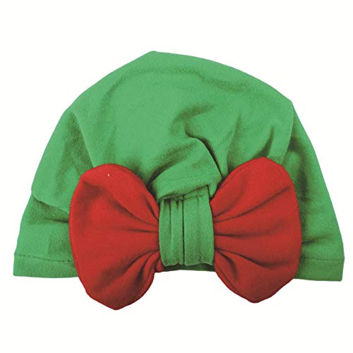 FFSMCQ Baby Kerst Coltrui Cap Fluweel Multi kleuren Contrast Boog Knoop Dome Cartoon Creatieve Leuke Hoed Kerstmis Party Props Hoed