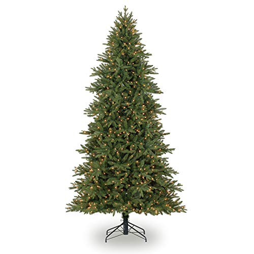 Evergreen Classics 9 Feet Pre-Lit Colorado Spruce Artificial Christmas Tree, Clear Lights