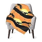Manta de bebé Sun Set África Suave y cálida Mantas de recepción para niños niñas recién Nacidos 76X102CM
