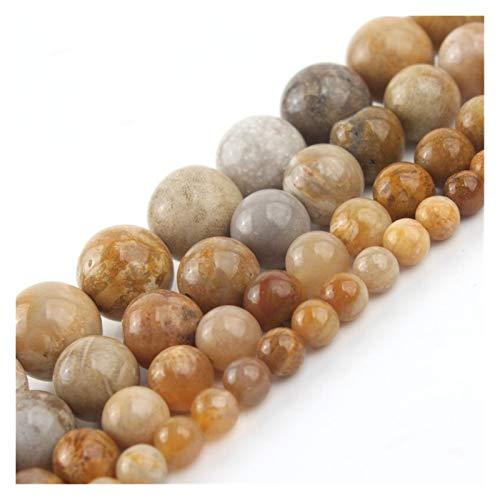 HETHYAN Cuentas redondas sueltas de ónix de piedra de crisantemo natural, de 4/6/8/10 mm, para hacer joyas, collares de pulseras de abalorios de 38 cm (tamaño: 8 mm, 46 unidades)