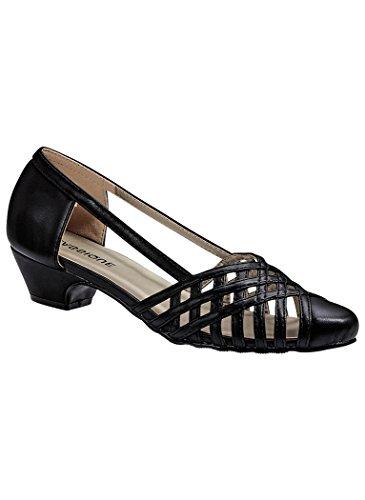 Angel Steps Women's Colleen Woven Low Heel Pumps Black 8 C/D US