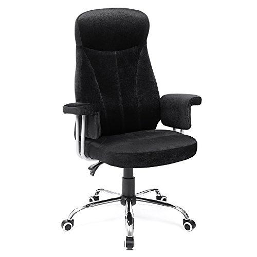 SONGMICS Bürostuhl Chefsessel Drehstuhl Computerstuhl Sitzhöhenverstellung \noffice Stuhl Polsterung OBG41B