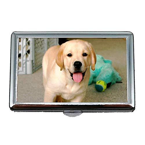 Stahl Zigarettenetui Metall Box, Bunte Hunde Labrador Hund hd, Kredit Visitenkartenhalter Fall Aufbewahrungsbox
