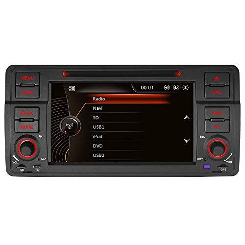 """7\"""" AUTORADIO DVD GPS Autoradio Navigation unterstützt Bluetooth CANBUS Dual Zone Subwoofer HD DAB für für BMW E46 M3 325 3er 318 320 Rover75 MG (Radio)"""